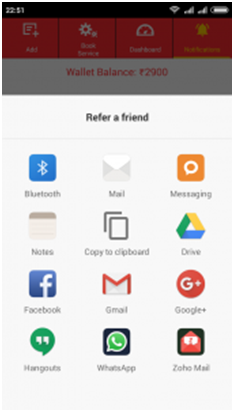 Refer friends via Other Apps